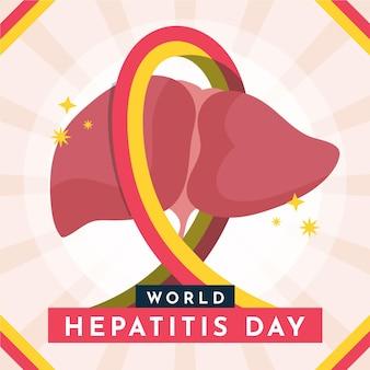 Ilustração do dia da hepatite no mundo plano orgânico