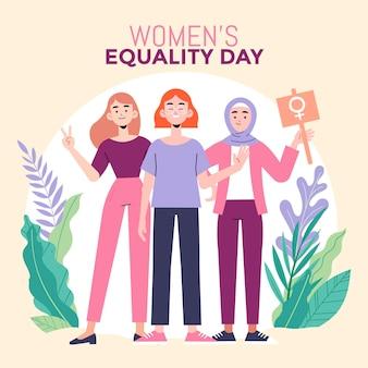 Ilustração do dia da igualdade feminina