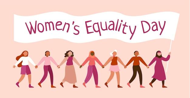 Ilustração do dia da igualdade feminina Vetor grátis