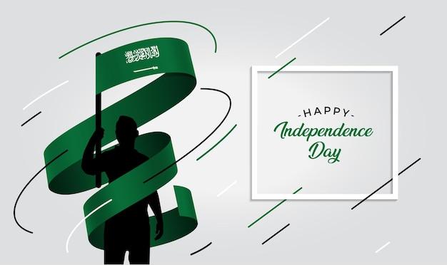 Ilustração do dia da independência da arábia saudita