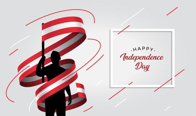 Ilustração do dia da independência da áustria