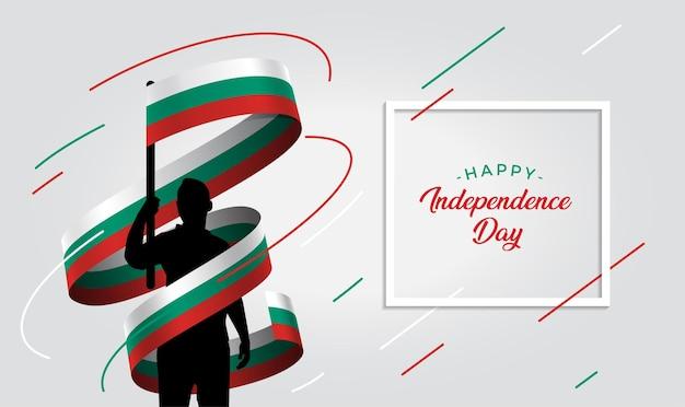 Ilustração do dia da independência da bulgária