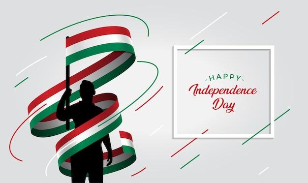 Ilustração do dia da independência da hungria