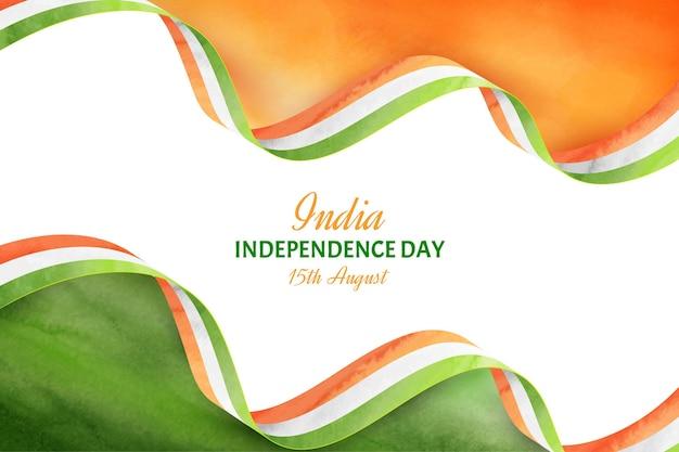 Ilustração do dia da independência da índia pintada à mão em aquarela