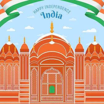 Ilustração do dia da independência da índia