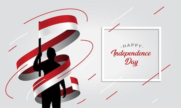 Ilustração do dia da independência da indonésia