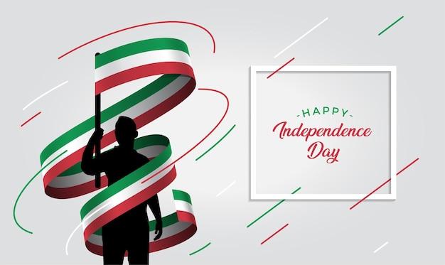 Ilustração do dia da independência da itália