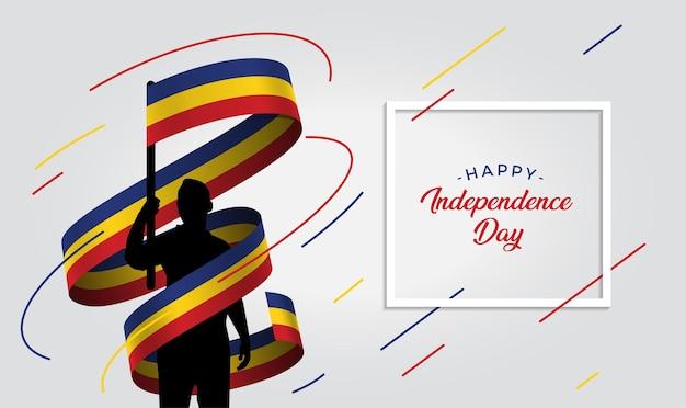 Ilustração do dia da independência da romênia