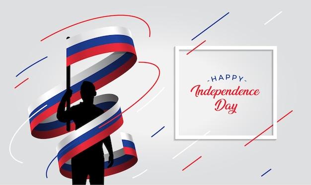 Ilustração do dia da independência da rússia