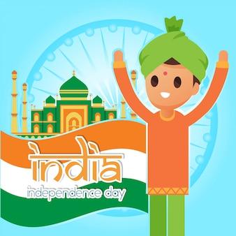Ilustração do dia da independência de india