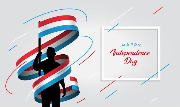 Ilustração do dia da independência de luxemburgo