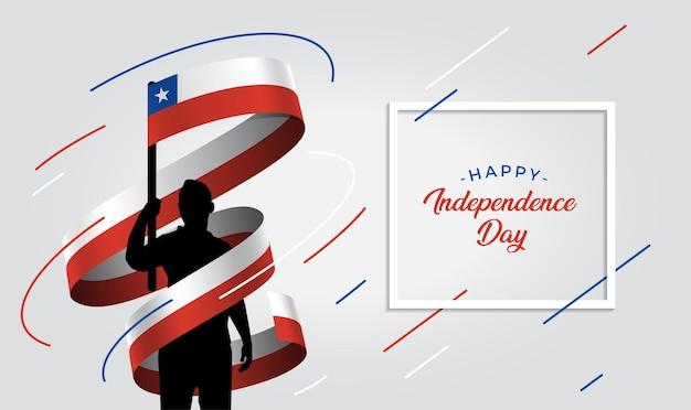 Ilustração do dia da independência do chile