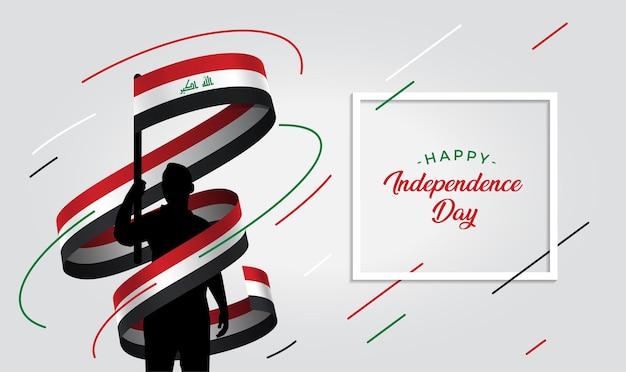 Ilustração do dia da independência do iraque