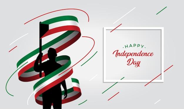 Ilustração do dia da independência do kuwait