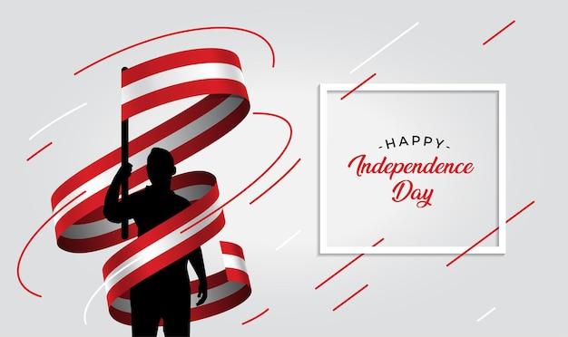 Ilustração do dia da independência do peru