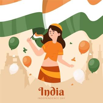 Ilustração do dia da independência indiana