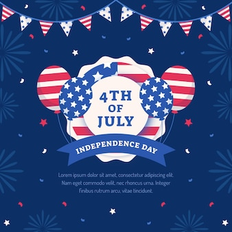 Ilustração do dia da independência no dia 4 de julho