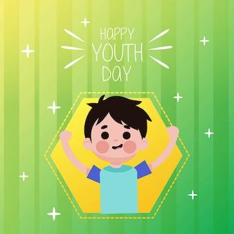 Ilustração do dia da juventude