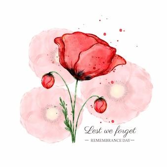 Ilustração do dia da lembrança em aquarela