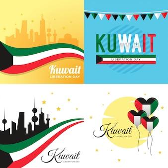 Ilustração do dia da libertação do kuwait