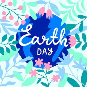 Ilustração do dia da mãe terra desenhada com letras
