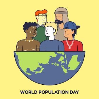Ilustração do dia da população mundial