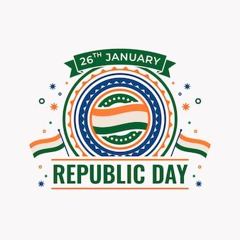 Ilustração do dia da república plana