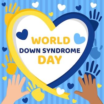 Ilustração do dia da síndrome de down no mundo plano
