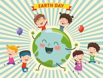 Ilustração do Dia da Terra