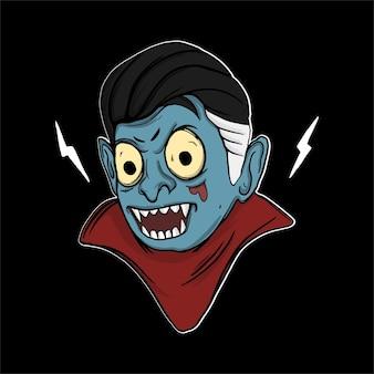 Ilustração do dia das bruxas vampiro para camiseta