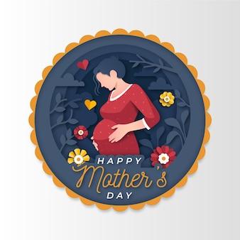 Ilustração do dia das mães em estilo jornal