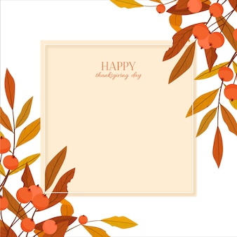 Ilustração do dia de ação de graças feliz.