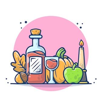 Ilustração do dia de ação de graças