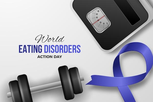 Ilustração do dia de ação de transtornos alimentares do mundo realista