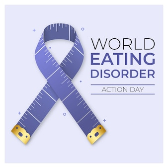Ilustração do dia de ação dos transtornos alimentares do mundo gradiente