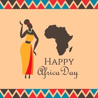 Ilustração do dia de áfrica
