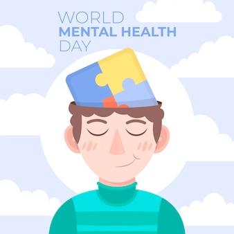 Ilustração do dia de saúde mental