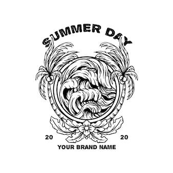 Ilustração do dia de verão