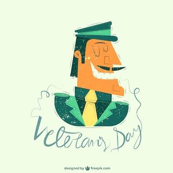 Ilustração do dia de veterano