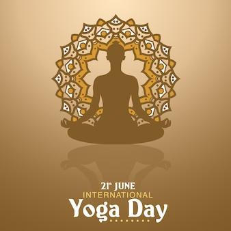 Ilustração do dia de yoga