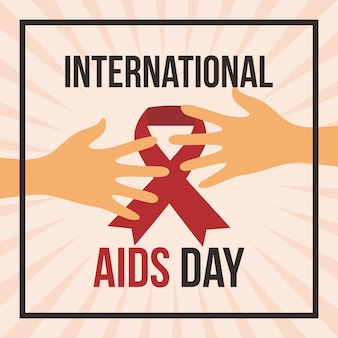 Ilustração do dia do aids internacional