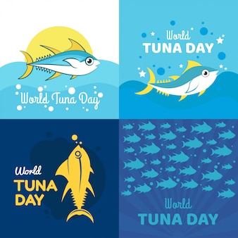 Ilustração do dia do atum do mundo