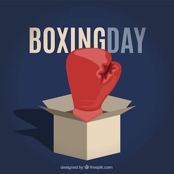 Ilustração do dia do boxing