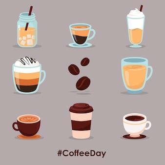Ilustração do dia do café