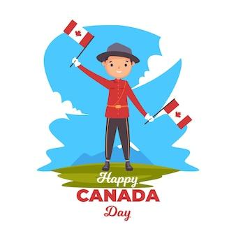 Ilustração do dia do canadá