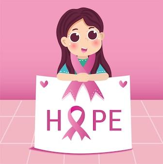 Ilustração do dia do câncer de mama