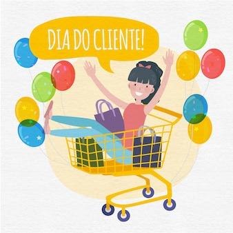 Ilustração do dia do cliente
