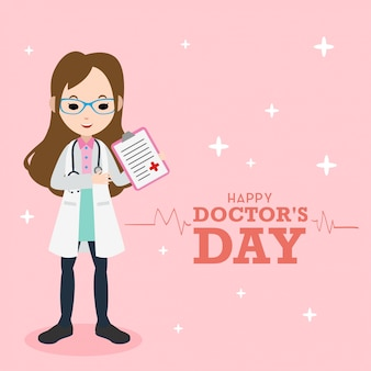 Ilustração do dia do doutor