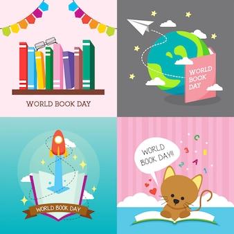 Ilustração do dia do livro do mundo