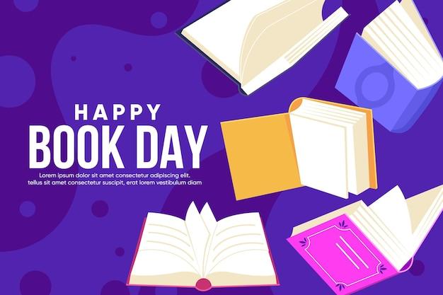 Ilustração do dia do livro no mundo plano